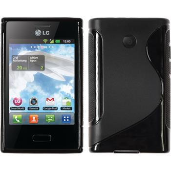 Silikon Hülle Optimus L3 S-Style schwarz