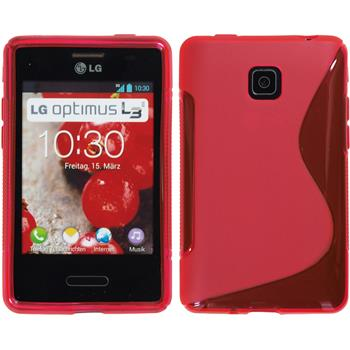 Silicone Case for LG Optimus L3 II S-Style hot pink