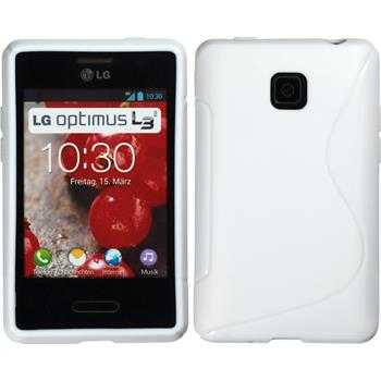Silicone Case for LG Optimus L3 II S-Style white