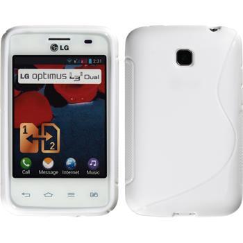 Silikon Hülle Optimus L3 II Dual S-Style weiß