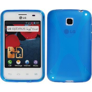 Silikon Hülle Optimus L3 II Dual X-Style blau