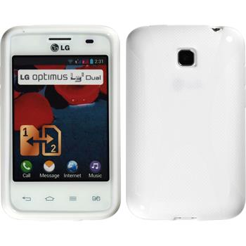 Silicone Case for LG Optimus L3 II Dual X-Style white