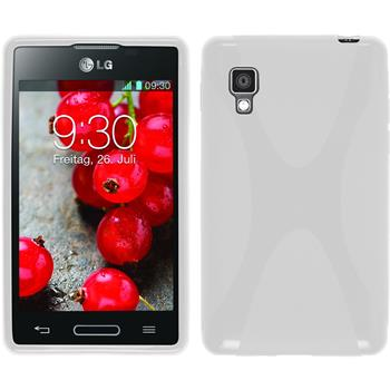 Silicone Case for LG Optimus L4 II X-Style white