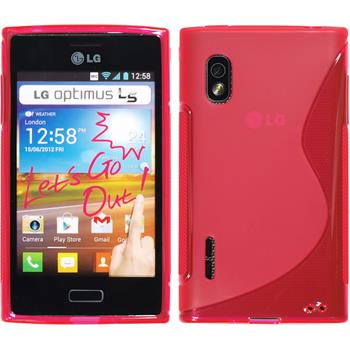 Silicone Case for LG Optimus L5 S-Style hot pink