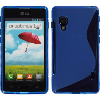 Silicone Case for LG Optimus L5 II S-Style blue