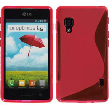 Silicone Case for LG Optimus L5 II S-Style hot pink