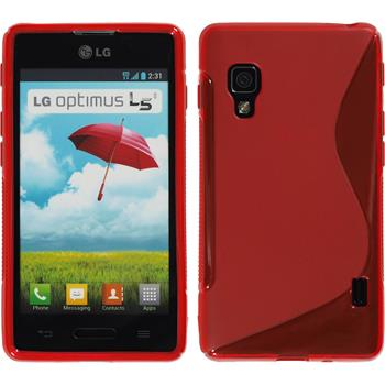 Silicone Case for LG Optimus L5 II S-Style red
