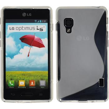 Silicone Case for LG Optimus L5 II S-Style transparent