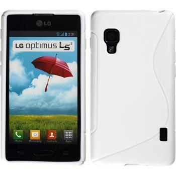 Silikonhülle für LG Optimus L5 II S-Style weiß