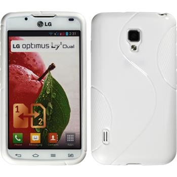 Silicone Case for LG Optimus L7 II S-Style white