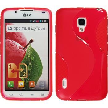 Silikonhülle für LG Optimus L7 II Dual S-Style rot
