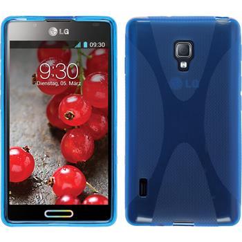 Silikon Hülle Optimus L7 II X-Style blau