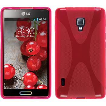 Silikonhülle für LG Optimus L7 II X-Style pink