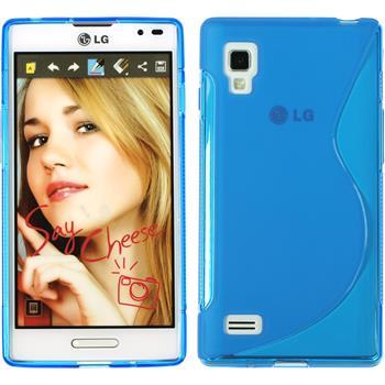 Silikonhülle für LG Optimus L9 S-Style blau