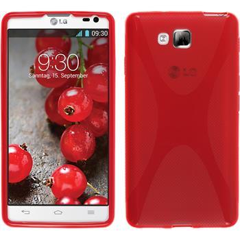 Silikonhülle für LG Optimus L9 II X-Style rot