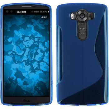 Silikon Hülle V10 S-Style blau