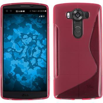 Silikonhülle für LG V10 S-Style pink