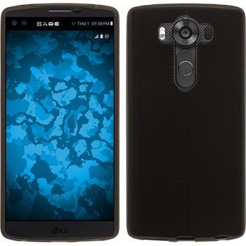 Silikonhülle für LG V10 transparent schwarz