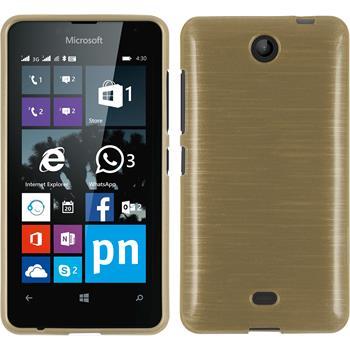 Silikonhülle für Microsoft Lumia 430 Dual brushed gold