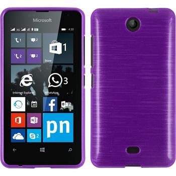 Silikon Hülle Lumia 430 Dual brushed lila