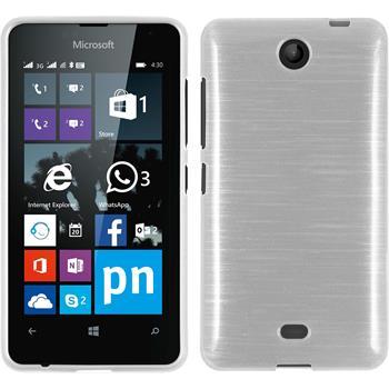Silikon Hülle Lumia 430 Dual brushed weiß