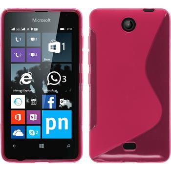 Silikon Hülle Lumia 430 Dual S-Style pink