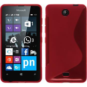 Silikon Hülle Lumia 430 Dual S-Style rot