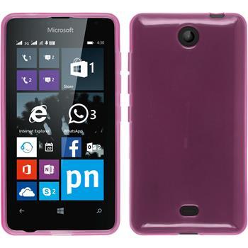 Silikon Hülle Lumia 430 Dual transparent rosa