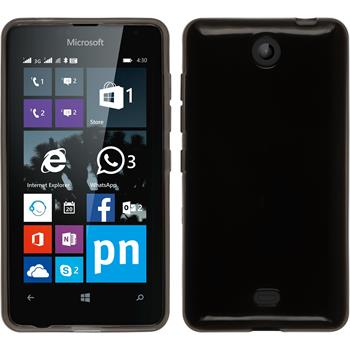 Silikonhülle für Microsoft Lumia 430 Dual transparent schwarz