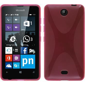 Silikon Hülle Lumia 430 Dual X-Style pink