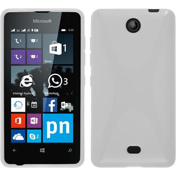 Silikon Hülle Lumia 430 Dual X-Style weiß