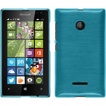 Silikon Hülle Lumia 435 brushed blau