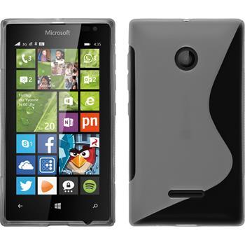 Silikon Hülle Lumia 435 S-Style grau