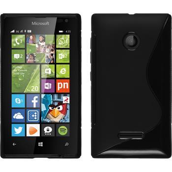 Silikon Hülle Lumia 435 S-Style schwarz