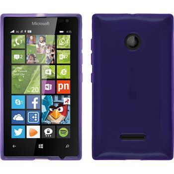 Silikon Hülle Lumia 435 transparent lila