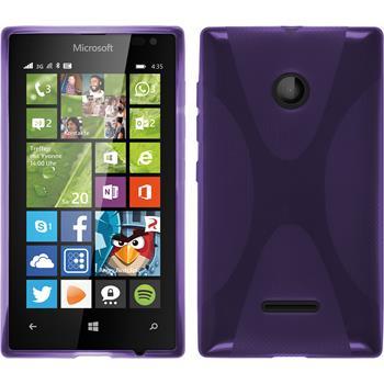 Silikon Hülle Lumia 435 X-Style lila