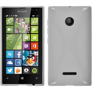 Silikon Hülle Lumia 435 X-Style weiß