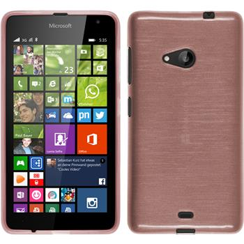 Silikon Hülle Lumia 535 brushed rosa