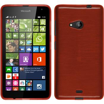 Silikonhülle für Microsoft Lumia 535 brushed rot