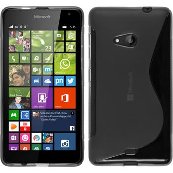 Silikonhülle für Microsoft Lumia 535 S-Style grau