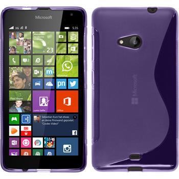 Silikon Hülle Lumia 535 S-Style lila