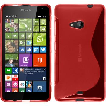 Silikonhülle für Microsoft Lumia 535 S-Style rot