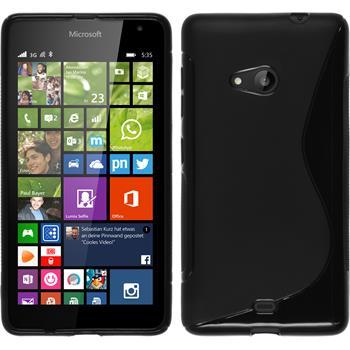 Silikon Hülle Lumia 535 S-Style schwarz