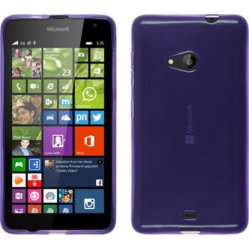 Silikon Hülle Lumia 535 transparent lila