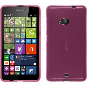 Silikon Hülle Lumia 535 transparent rosa