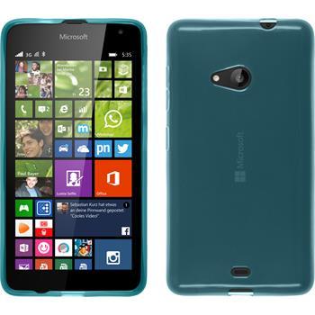 Silikonhülle für Microsoft Lumia 535 transparent türkis