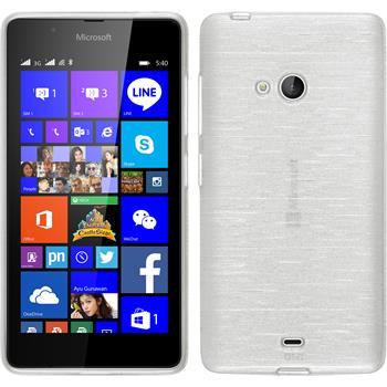 Silikon Hülle Lumia 540 Dual brushed weiß