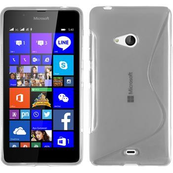Silikon Hülle Lumia 540 Dual S-Style clear