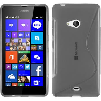 Silikon Hülle Lumia 540 Dual S-Style grau