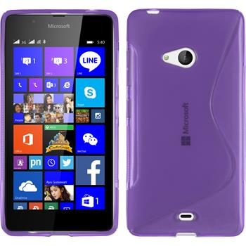 Silikonhülle für Microsoft Lumia 540 Dual S-Style lila